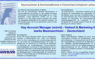 LMV - Key Account Manager (w/m/d) - Verkauf & Marketing für starke Baumaschinen